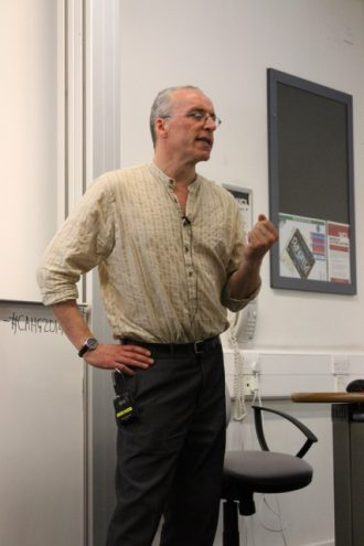 Matt Champion Norfolk Medieval Graffiti Survey speaking at the CAHG conference 2014 | Judith Harvey