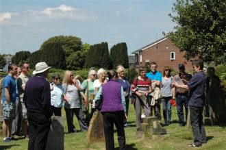 A group of people gathered for a guided walk and talk on Ryde Cemetery Open Day | Carol Strong