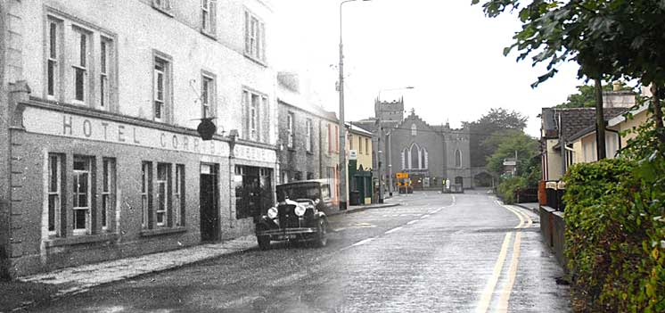These 'then and now' photos are from www.oughterardheritage.org community archive.