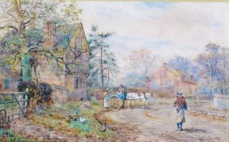 Painting of Braunstone, Leicestershire | Braunstone Heritage Archive Group