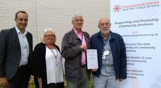 Braunstone Heritage Archive Group winners of the Gathering and Preserving Heritage award