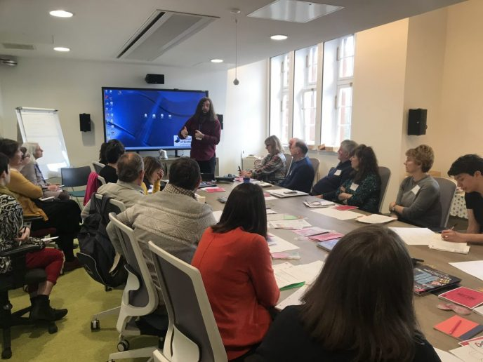 February 2020's Scottish Council on Archives training session. | Image supplied by Audrey Wilson