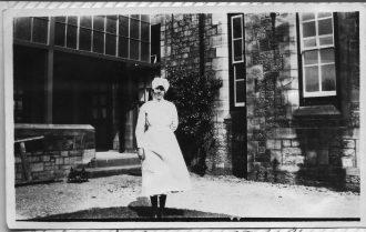 Elizabeth Parkinson, Senior Nurse (Sister) on Rodgett Infirmary at the Royal Albert Institution 1929