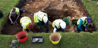 Digging in Glendalough