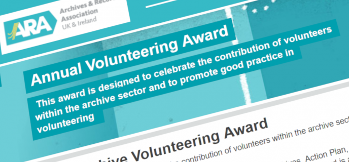 ARA Archive Volunteering Award for 2021