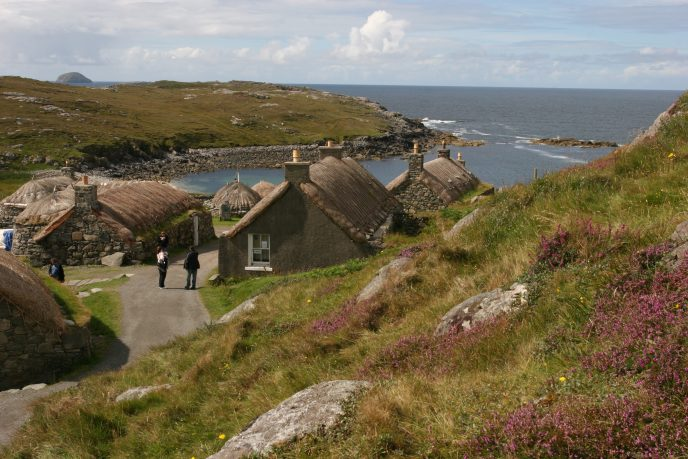 Blackhouses at Gearrannan | Image courtesy of Voices: The Hebridean Story